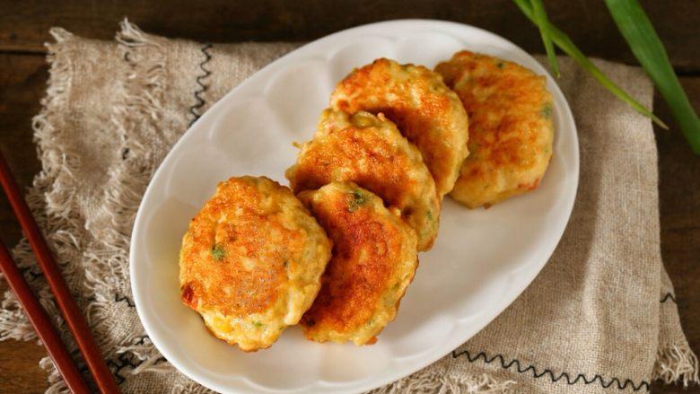蔬菜鸡肉饼,一款营养均衡、美味低脂的蔬菜鸡肉饼就做好了!