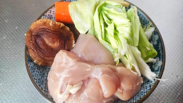 蔬菜鸡肉饼,准备食材
