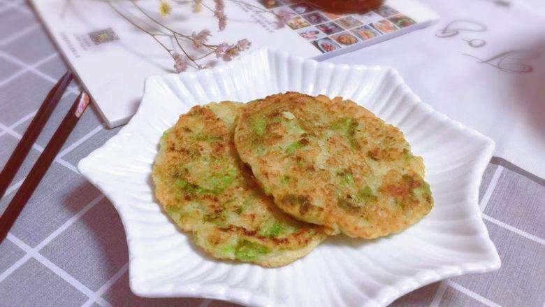 蔬菜鸡肉饼,出锅装盘