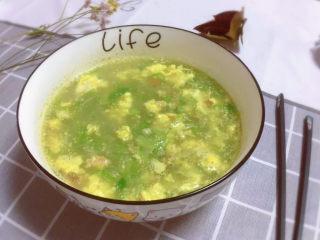 虾皮丝瓜汤,出锅~香喷喷