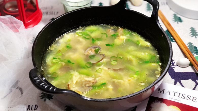 虾皮丝瓜汤➕花蛤虾皮丝瓜汤