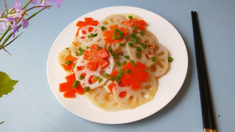 茄汁藕片,成品图