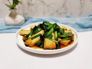 韭菜豆腐,成品图