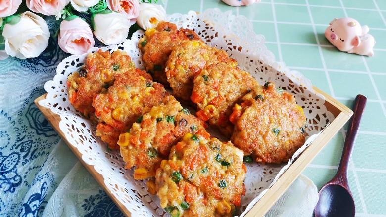 胡萝卜鸡肉饼,成品1