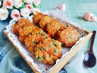 胡萝卜鸡肉饼,成品2