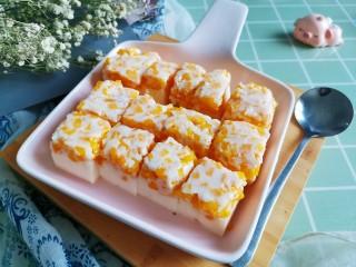 芒果牛奶冻,成品图!