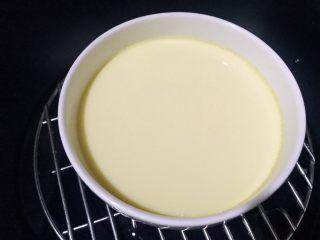 水嫩蒸蛋,15分钟后水蛋就蒸好了