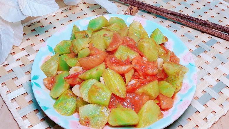 番茄炒莴笋