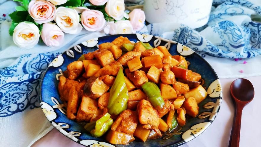 杏鲍菇炒鸡丁