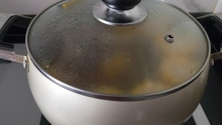 胡萝卜筒骨汤,出锅撒上香葱,盐,枸杞。