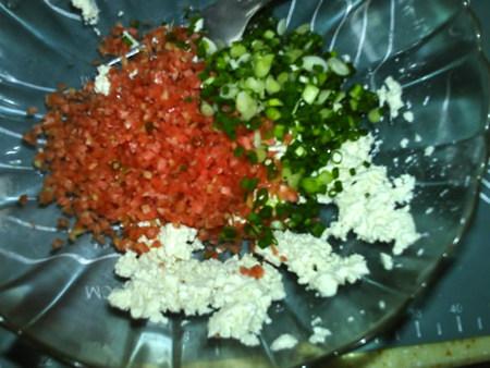 蔬菜肉饼,加入胡萝卜,葱花,