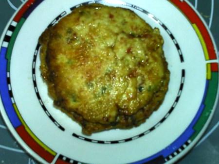 蔬菜肉饼,出锅,趁热食用。
