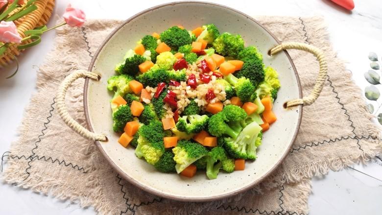 凉拌蒜蓉西兰花,夏天吃凉拌菜就是爽。