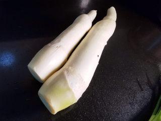 五花肉炒茭白,茭白