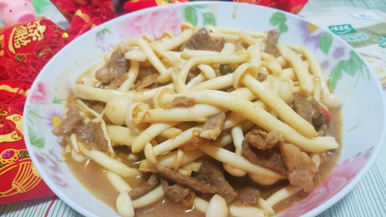 牛肉海鲜菇