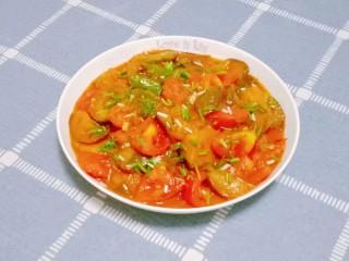 番茄烧茄子,一道番茄炒茄子就做好了