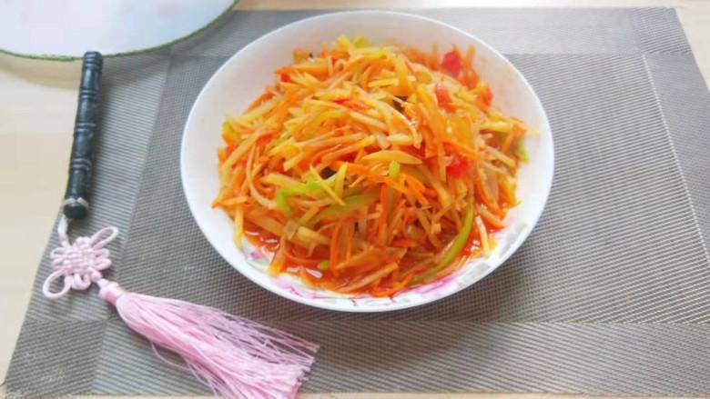 西红柿炒土豆丝,西红柿炒土豆丝
