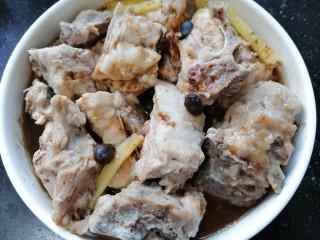 蒜蓉豆豉蒸排骨,蒸熟取出