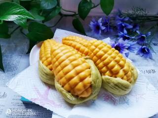 彩蔬玉米馒头,成品图!