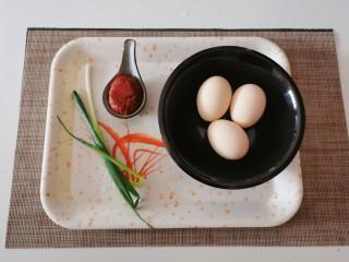 糖醋鸡蛋,食材准备好了。