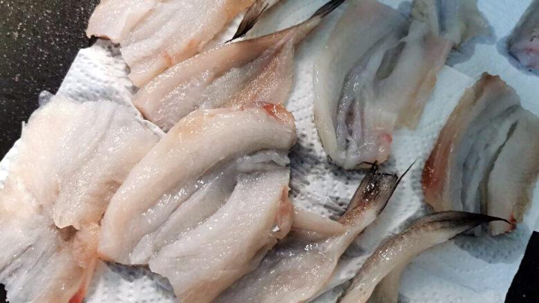 金汤鱼,拭干表面水分