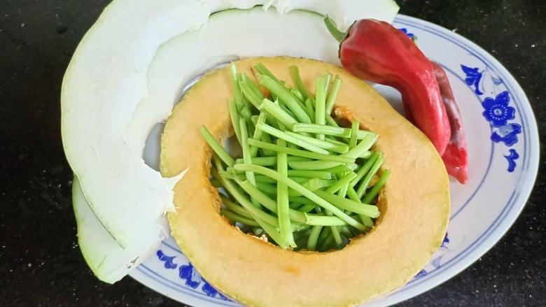 杂炒时蔬,备好食材