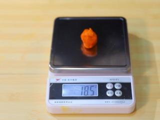 2021好事发生(好柿花生)网红月饼保姆级教程来啦,调好颜色的柿子皮取18克为一份