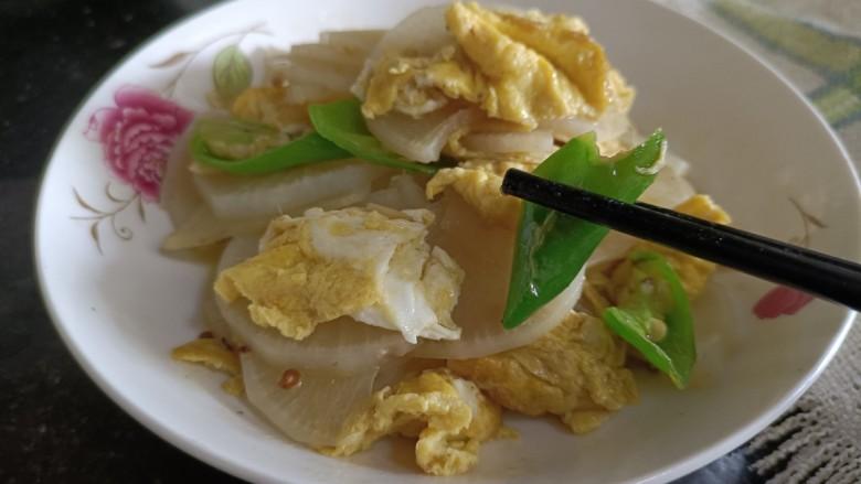 白萝卜炒鸡蛋,成品二