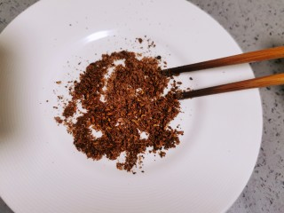 椒盐花菜,搅拌均匀就是椒盐粉,放置备用
