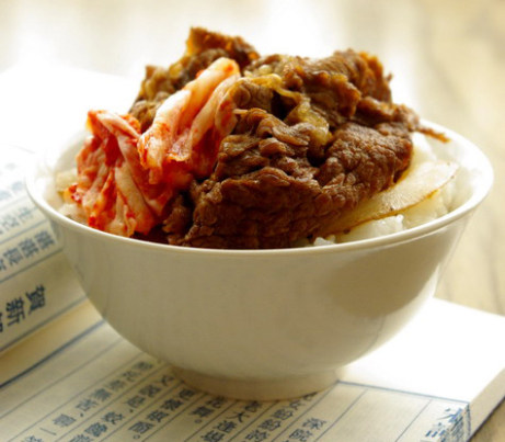洋葱牛肉饭