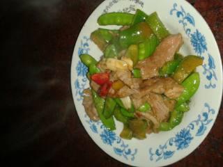 青椒荷兰豆炒肉片
