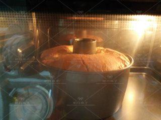 红枣戚风蛋糕,.送入预热好的烤箱,170度,40分钟。