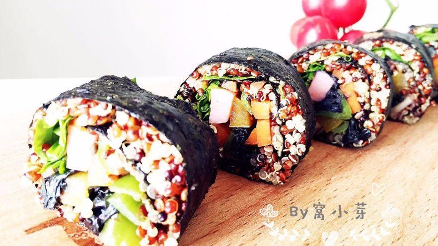 健康低卡餐-秘鲁三色藜麦寿司