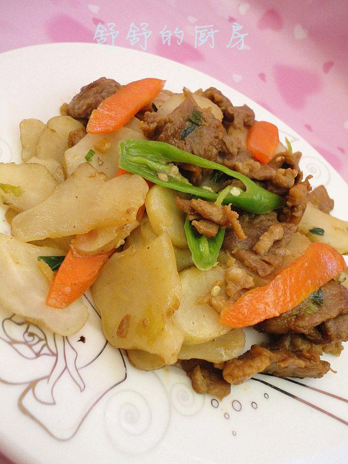 洋姜(洋芋头)炒肉片