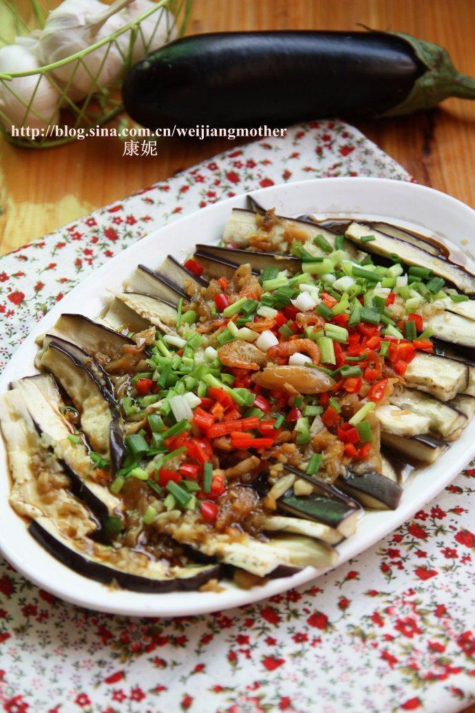 冬菜虾米蒸茄子