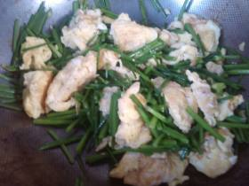 韭苔炒鸡蛋