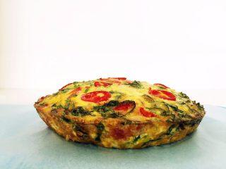 营养多彩烘蛋-偷懒也能做出好味道,鼓鼓的烘蛋饼