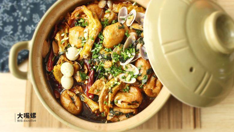 暴爽花甲鸭脚煲丨大嘴螺,开动,花甲的鲜香味和螺蛳粉卤水的味道完美融合在一起
