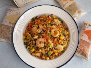玉米虾仁蛋炒饭,不爱吃米饭的快快安排起来吧