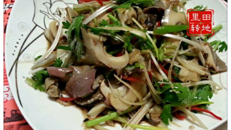 煮了海螺来凉拌