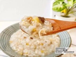 宝宝辅食:栗子鸡丝粥,美美开动吧。