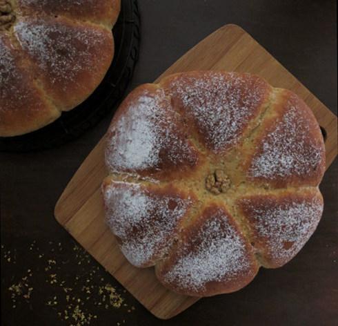 全麦桂花甜酒酿面包