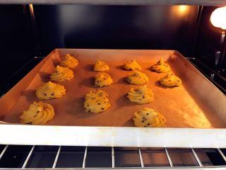 宝宝辅食:红薯芝麻曲奇,放入预热好的烤箱,150度,上下火,中层,烤10分钟。