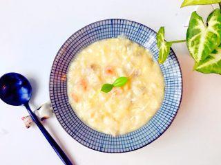 宝宝辅食:鲜虾平菇面疙瘩汤-10M