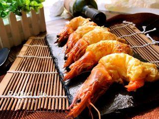 酥皮大虾, 酥皮酥脆。