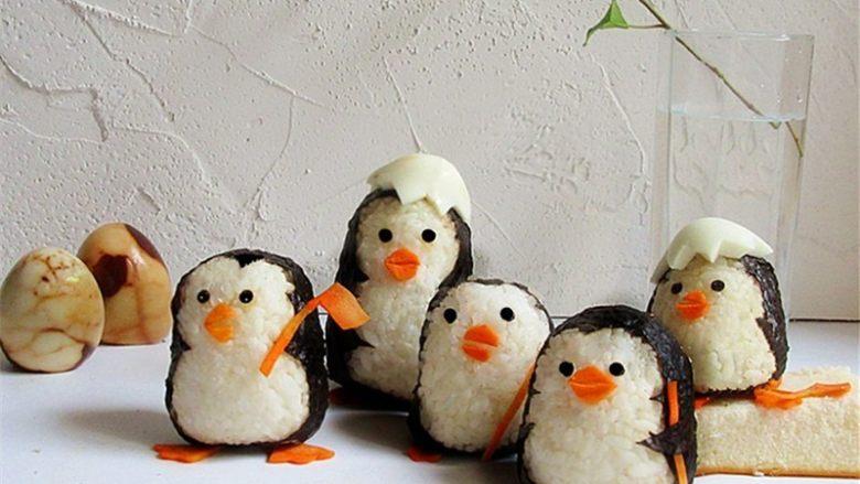 可爱的企鹅饭团