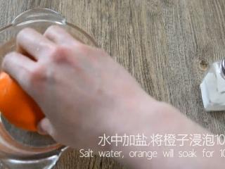 最好的止咳方法——盐蒸橙子,水中加盐,将橙子浸泡10分钟