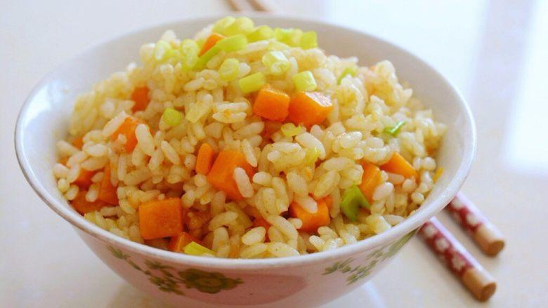 金沙南瓜焗饭(蛋黄南瓜炒饭)