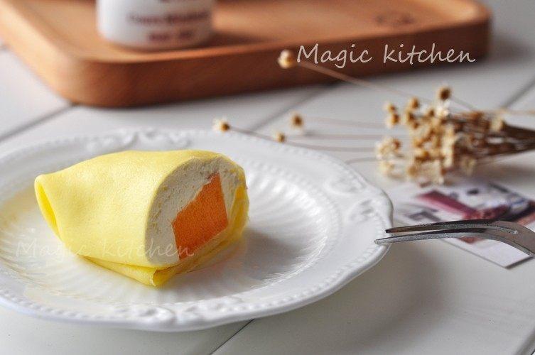 无需烤箱一样可以作甜点【芒果班戟】