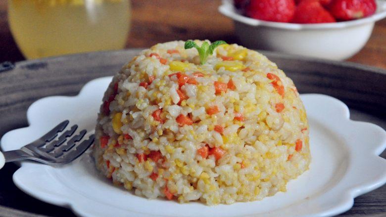 五谷杂粮炒饭,生活有了仪式感,小朋友吃饭也更香啦。